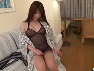 Amateur;Asian;Blowjobs;Cumshots;Japanese;Girl POV;Jav HD Mayuka Akimoto lingerie girl blows...