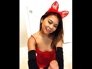 gloves;retro;bunny;asian;petite;spinner;viet;blowjob;red-lips;cat-ears;cosplay;handjob;small-tits;big-ass;pov;butt,Asian;Amateur;Big Ass;Blowjob;POV;Exclusive;Verified Amateurs;Old/Young;Cosplay;Vertical Video Retro Red Bunny Cosplayer Teases and...