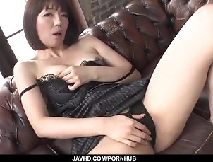 javhd;mom;hot-milf;masturbation;sex-toys;vibrator;cock-sucking;hand-work;cumshot;cum-in-mouth,Asian;Blowjob;Hardcore;Japanese Superb solo by lingerie model Izumi...