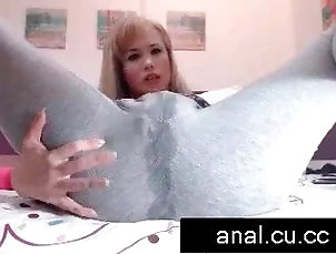 blonde asian squirting in yoga pants