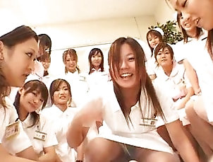 Asian;Group;Japanese;Gangbang,Asian;Brunette;Censored;Fetish;Gangbang;Japanese;Licking Vagina;Nurse;Oral Sex Asian nurses enjoy sex on top
