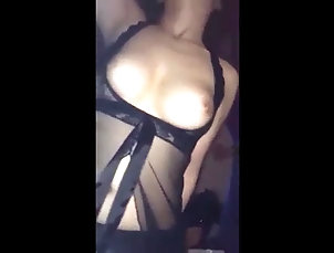 Amateur;Asian;Big Boobs;Asian Lingerie;Black Lingerie;Black Riding;Riding;Black Asian Riding in Black Lingerie