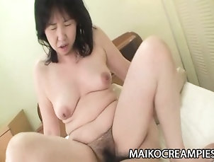 maikocreampies;nippon;asian;mature;big-boobs;hairy-pussy;fingering;oral-sex;cock-sucking;cowgirl;cock-riding;orgasm;creampie;cum;in;pussy;close-up;sumie;nagai,Big Tits;Creampie;Mature;Japanese Sumie Nagai - Cock Addicted JAV...