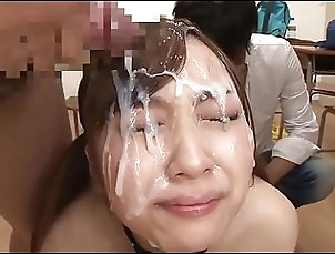 Facials;Japanese;Squirting;Bukkake;Cum in Mouth Bukkake for Yuuna Mashiro