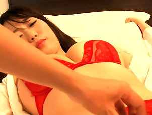 Asian;Babes;Brunettes;Japanese;Softcore;Pretty pretty Japanese in red - pleasant...