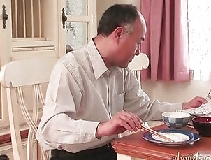 Blowjob;Asian,Asian;Blowjob;Couple;Oral Sex Asian gets mouth fucked in kitchen