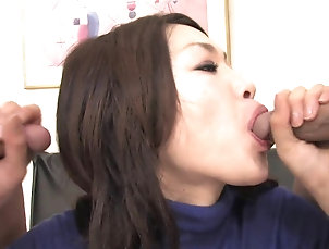 Blowjobs;Threesomes;Brunettes;Creampie;Hairy;Tits;Outdoor;Sex Toys;Lingerie;Japanese;HD Videos;Lollipop;Natural Tits Babe with natural tits licks lollipop...