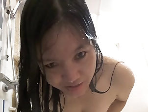 Asian;Showers;Small Tits;Kiss Want To Kiss Me?