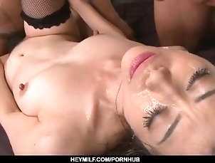 heymilf;hot-milf;office;suit;group-action;sexy-lingerie;black;stockings;pink-pussy;close-up;fingering;squirting;pussy-licking;facesitting;cock-sucking;double-blowjob;hardcore;action;dick-riding,Asian;Cumshots;Japanese Dashing hardcore group sex with...